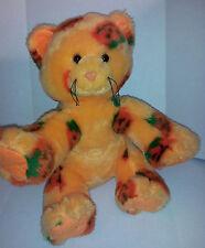 """Halloween Orange Pumpkin Kitty Cat Kitten 11""""  Plush Stuffed Animal Lovey Toy"""