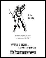 PUBBLICITA' 1952 VINO MARSALA DI SICILIA WINE NELSON GARIBALDI MILLE CONDOTTIERI
