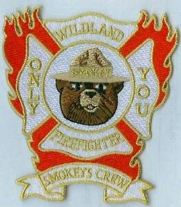 Feu Fighter Épaule Insignes Smokey's Ras Wildland Pompier - Seulement Vous