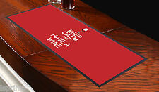Keep Calm and Have a Wine Red Bar Towel Runner Pub Mat Beer Cocktail Party Gift