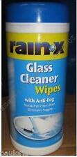 Rainx GLASS CLEANER WIPES x25 with ANTI-FOG  *NEW* rain x  rain ex *RR46*
