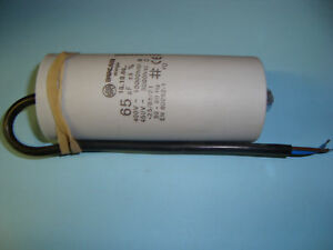 65uF Motor Run Capacitor 450V, Twin Cable