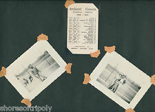 1940's AFRICAN AMERICAN BASKETBALL PLAYER AMHERST~ OH ~ORIGINAL PHOTO & SCHEDULE