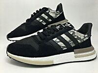 Adidas Originals ZX 500 RM Black/Grey Snakeskin Mens Lifestyle Sneakers (BD7924)