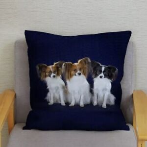 PAPILLON CUSHION COVER FOR THE HOME LOVELY GIFT FOR PAPILLON FANS