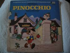 WALT DISNEY'S STORY AND SONGS FROM PINOCCHIO VINYL LP 1969 MONO BOOK AND RECORD
