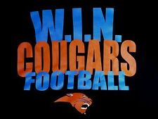 WIN COUGARS FOOTBALL t-shirt in high quality printing & vivid colors.MENS M. Exc
