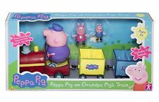 Peppa Pig Grandpa Pig's Toy Train Playset & Figures Features Speech & Sound New