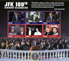 Grenada 2017 MNH JFK John F Kennedy 100th Birthday 6v MS II US Presidents Stamps