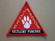 Skill Badge Excellent Puncher Woven Cloth Patch Badge