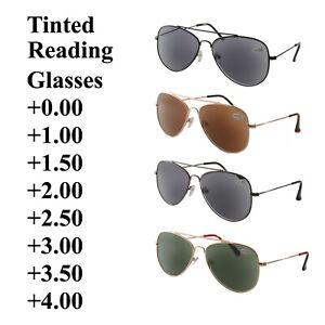 Sun Readers Tinted Reading Glasses AV-2 +0.00 to +4.00 Sunglasses UV400