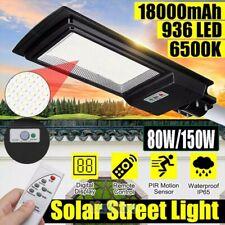 9900000Lumens 80W 462 Led Solar Flood Light Garden Street Wall Lamp Ip67+Remote