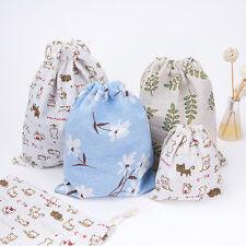 Fashion Unisex Floral Animal Print Picnic Bags Drawstring Backpack Storage bags