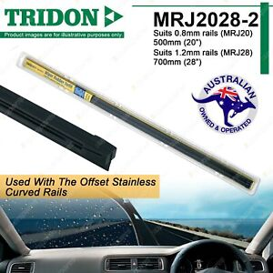 Combo Pair Tridon Wiper Rubber Refills for Toyota 86 Aurion Camry Corolla Kluger