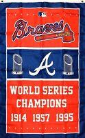 Atlanta Braves World Series Championship Flag 3x5 ft Sports Banner Man-Cave Bar