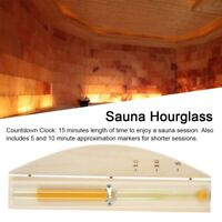 15 Minutes Wall-Mounted Rotating Sand Timer Hourglass Clock for Sauna Room
