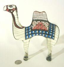 ABRAHAM PALATNIK Mid Century MCM OP ART Acrylic Lucite CAMEL Figurine Sculpture