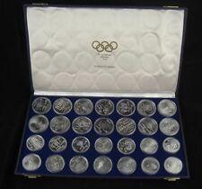 Kanada Montreal Olympiade 1976 Münzen komplett 925er Sterling Silber