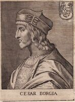 Portrait XVIIe Cesare Borgia Duca di Valentinois Rinascimento 1646