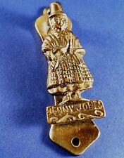 """Vintage """" Jenny Jones Welsh Lady """" Brass Door Knocker 92 mm Long"""