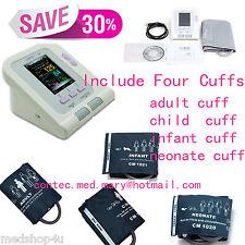 CONTEC CONTEC08A Blood Pressure Monitor + Adult+Child+Pediatric+Neonatal Cuff s