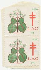 CANADA 1976, CINDERELLA LAC  pair on piece (Tuberculose?)