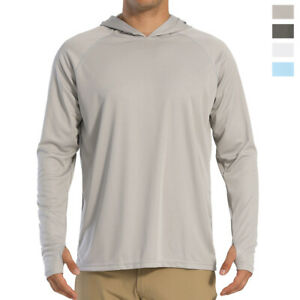 TACVASEN Mens Outdoor Shirt Long Sleeve Hiking Tops UPF 50 Sun Protection Shirt Quick Dry Lightweight Shirt with Zip Pocket