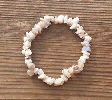 NATURAL AUSTRALIAN OPAL STONE GEMSTONE STRETCHY CHIP BRACELET