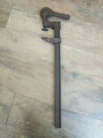 """Antique Bar Clamp Pat. Feb. 8 81 All Iron Heavy Duty 21"""" Tools Woodworking"""