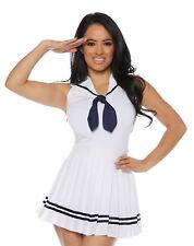 White Womens Adult Sailor Costume Accessory Short Skirt Set