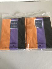 72 Sheets HALLOWEEN Colors TISSUE PAPER ORANGE Black Purple Gift wrapping Party