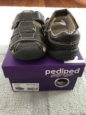 Pediped Grip 'n' Go Flex Sydney Sandals in Chocolate,  size 4-4.5 US (EU 19)