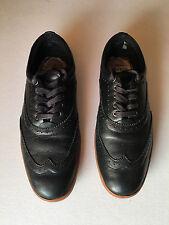Generic Surplus Men's Black Leather Wingtip Sneakers Athletic Fashion Shoe Sz 9