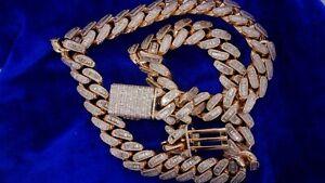 1 Kilo Miami Cuban Link Baguette Diamond Chain With Baguette Lock 60 Ct Diamonds