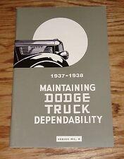 1937 - 1938 Dodge Truck Owners Operators Manual 37 38