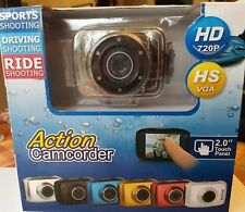 NEW Action Camcorder HD 720P HS VGA 2.0 Touch Panel Sports Driving Ride Shooting