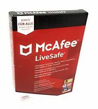 McAfee LiveSafe 2020 Antivirenschutz Windows Mac Smartphone Tablet Jahreslizenz