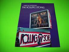Bally ROLLING STONES Original 1980 Pinball Machine Foldout Promo Flyer No Stamps