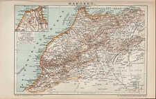 Carte MAP 1894: Maroc. nord-ouest-Afrique. Africa, Atlas