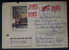 "RARE 1971 Soviet Union (Estonia) Cover ""Power Station"" ties 4 stamps cnc Tallinn"
