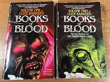 Clive Barker BOOKS OF BLOOD VOLUME 1 2 Lot  of 2 Vintage Paperbacks 1986