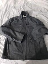 EXPRESS Jacket Coat Charcoal Gray Wool Blend XL