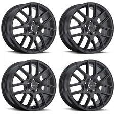 16x7 Vision 426 Cross 5x112 5x114.3 38 Matte Black Wheel New set(4)