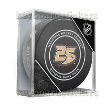 2018-19 Anaheim Ducks 25th Anniversary Official NHL Hockey Game Puck w/Cube