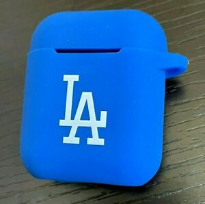 Airpods 1 / 2 - LA Dodgers Blue Soft Rubber Silicone Earphone Protective Case