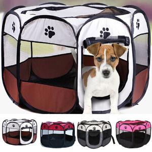 Pet Dog Cat Pen Puppy Rabbit Foldable Playpen Indoor/Outdoor Enclosure Run Cage