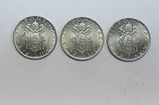 mw2564 Vatican; 3 Coins Set: 2 Lire 1951; 1952; 1953 Pius XII 1939-1958 KM#50 BU