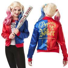 Teen Girls Harley Quinn Kit Jacket & Shirt Suicide Squad Halloween Costume