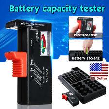 Us Black Battery Storage Caddy Box Case Holder Organizer Capacity Tester