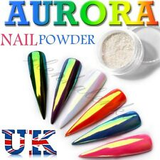 AURORA Nail Powder Unicorn Neon Mirror Chrome Effect Rainbow Mermaid Effect